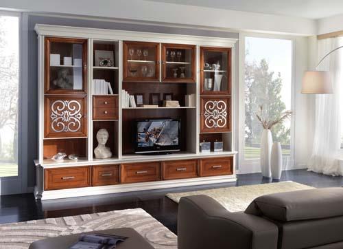 Spallotta arredamenti - Parete soggiorno classica ...